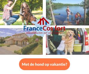 France Comfort met hond banner